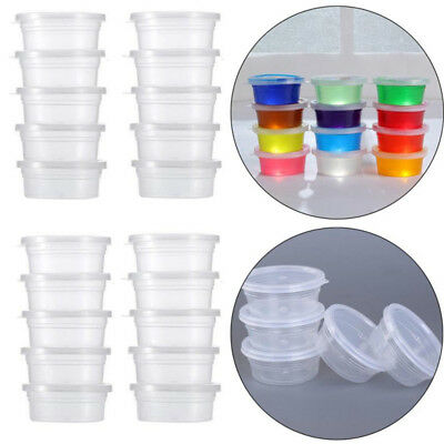 20 Pcs Slime Storage Containers Foam Ball Storage Cups Containers With Lids