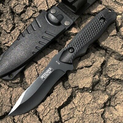 "8"" Defender Xtreme Hunting Knife with Sheath Black"