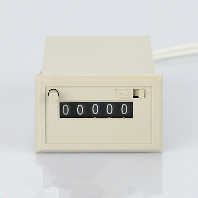 1PC Electromagnetic Counter 5 Digit For Counting With Interval Reset 24/110/220V