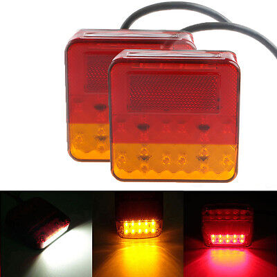 2 x Car 12V 16/20 LED Trailer Tail Light Left Right Taillight Truck Car Van Lamp