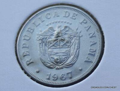 1967 Panama 5 Centesimos  Uncirculated As Imaged #jld40