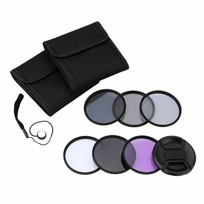 52mm UV + CPL + FLD + Neutral Density ND (ND2 ND4 ND8 Filter Photography Le S7Y8