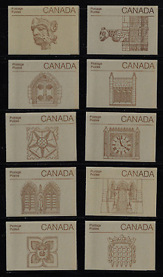 Canada Stamps - 10 Booklets Pane of 6 & Cover - Parliament #947a (BK88) - MNH