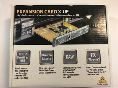 Behringer X-UF Expansion Card for X32. NEW