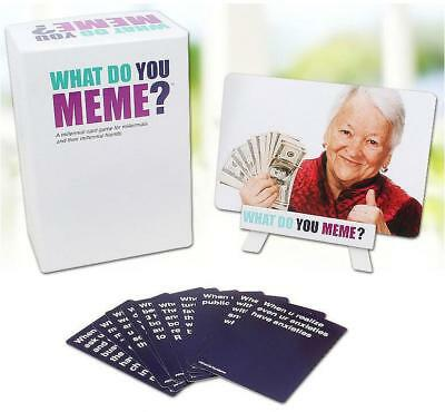 What Do You Meme? Adult Funny Party Game to Basic Qualität FREE SHIPPING DE