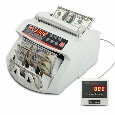 Money Cash Counting Bill Counter Bank Counterfeit Detector UV& MG Machine USD