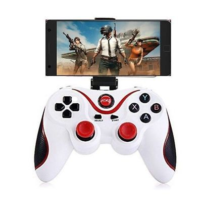 Black/White Wireless Bluetooth Game Controller Pad For Android IOS+ Phone Holder