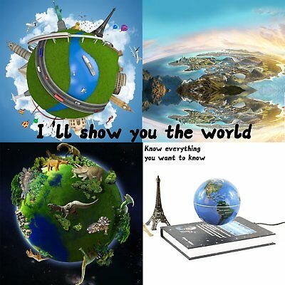 3 inch Rotatable Magnetic Levitation Globe Floating Earth World Map Book Style