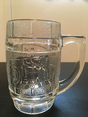 Dad's Root Beer Glass Mug 10 oz. 5 1/2 inches tall - Barrel design with logo
