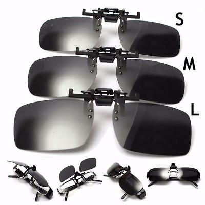 Polarized Clip On Flip Up Sunglasses Shades Clip for Fishing Glasses Driving