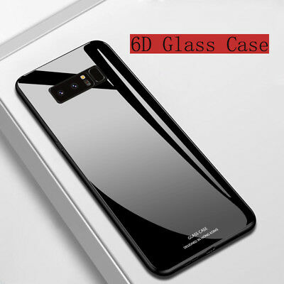 For Samsung Galaxy A7 A8 A9 2018 Shockrpoof Hard Tempered Glass Back Case Cover