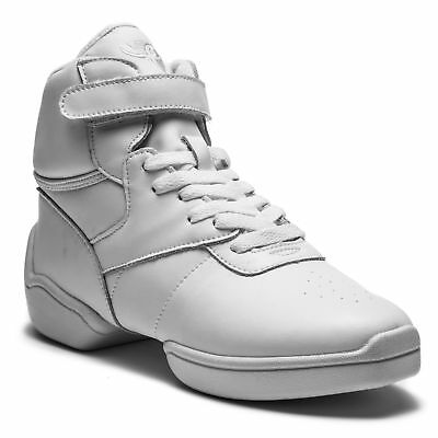 Rumpf 1500 Jazz Street Hip Hop Fitness Sport Tanz High Top Sneaker Leder weiss
