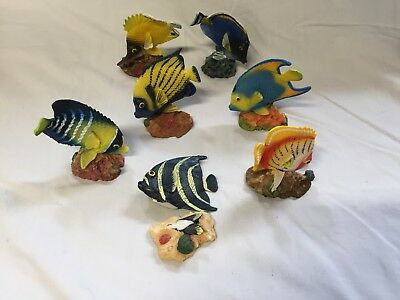 7 x Egyptian Tropical Fish Ornaments / Statues from EGYPT