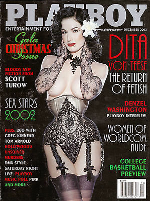 Playboy Magazine december 2002 dita von teese mens adult magazine