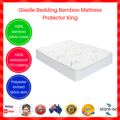 Giselle Bedding Bamboo Waterproof Mattress Protector King Mould-resistant