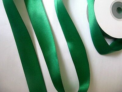 Double-Sided Satin Ribbon. HUNTER GREEN. Choose width 3mm 10mm 16mm 25mm