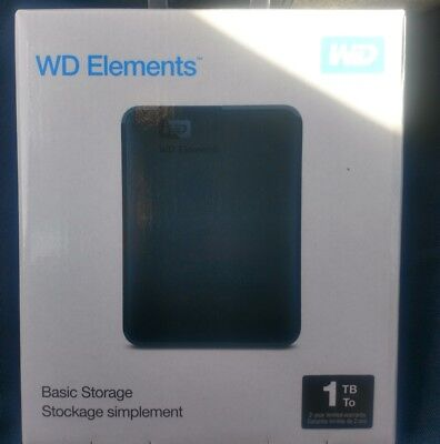 Western Digital Elements USB 3.0 Externe Festplatte,  1TB 2,5 Zoll Neu in OVP WD