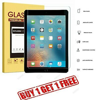 "100% Genuine Tempered Glass Screen Protector For Apple iPad 9.7"" 2018 BUY1 GET1"