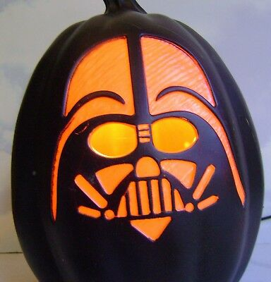 Halloween~Star Wars~Darth Vader~Light-Up Pumpkin~Jol~Lucasfilm~New~Tag~Nwt~2014