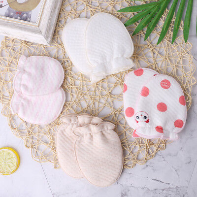 1 Pair Baby Gloves Anti-Scratch Face Protection Soft Blend Cotton Winter Mittens
