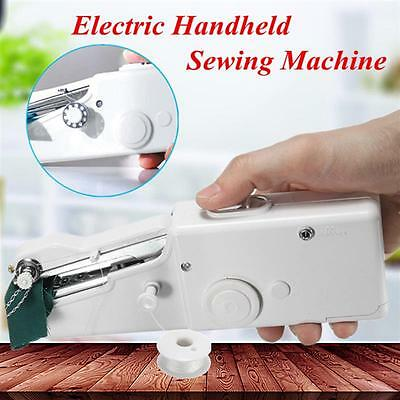 Portable Fabric Clothes Handy Stitch Battery Handheld Sewing Machine Household