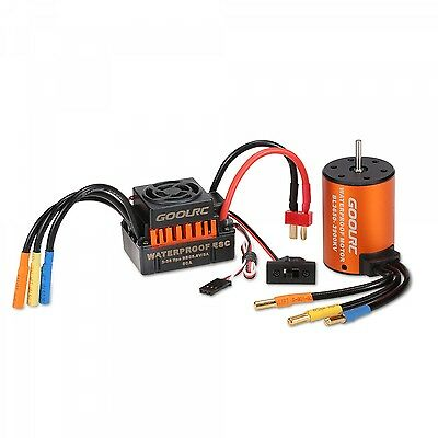 Waterproof Brushless Motor 3650 3900KV with 60A ESC Combo Set For Car Tool