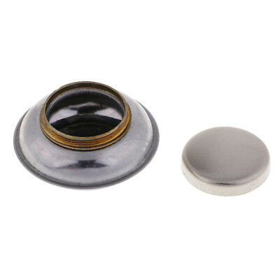Portable Stainless Steel Single Dipper Oil Painting Palette Cup Clips w/ Lid