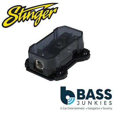Stinger SSFDB428 (1) 4GA Input to (2) 8GA Output MIDI Distrubution Block