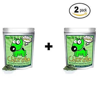 Organic Chlorella Raw Dog Food, Whole Food Topper and Natural Pet Supplement to
