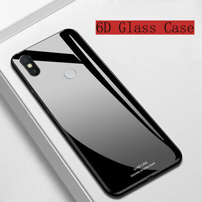 For Xiaomi Mi F1 A2 A1 MAX3 Tempered Glass Hard Shockrpoof Armor Back Case Cover