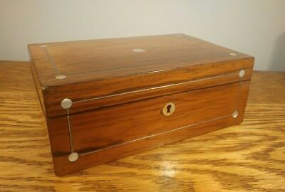 BEAUTIFUL WELL PROPORTIONED VICTORIAN ROSEWOOD TRINKET BOX c1890