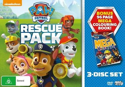 Paw Patrol Rescue Pack Box Set DVD Region 4 NEW