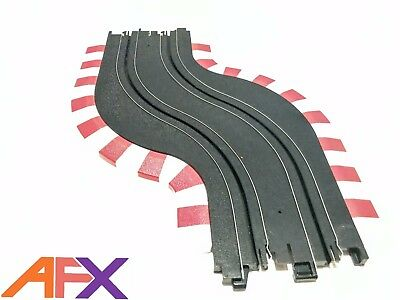 """AFX 1:64 Scale 1 x 229mm 9"""" Chicane Left Electric Slot Car Track"""