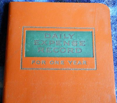"""VINTAGE  """"daily expense record for one year"""" Journal*BLACKSTONE circa 1940"""