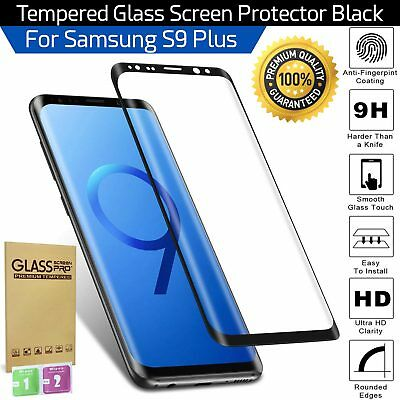 For Samsung Galaxy S9 Plus 100% Genuine Tempered Glass Screen Protector Black