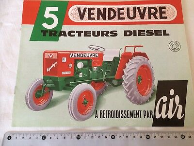 TRACTEUR VENDEUVRE 5 VERSIONS   Brochure Catalogue Dépliant 1998