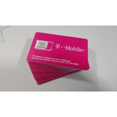 T-MOBILE Triple SIM Card MINI + MICRO + NANO • GSM 4G LTE • TRIO NEW