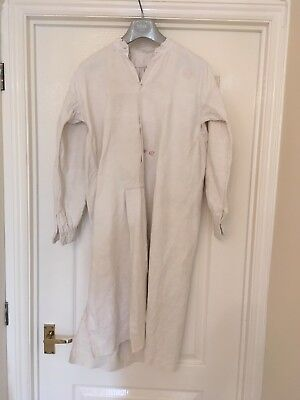 Antique Heavy Linen Victorian/Edwardian Farmers Day Wear Smock