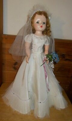 "1950's Madame Alexander 20"" Cissy Bride Doll ~ Original Dress ~ Jointed Ex.Cond."