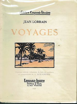 Voyages by Jean Lorrain - EO enhanced wood in colors A. Desligneres 1921