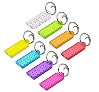 Lucky Line Key Tag with Tang Ring, Assorted Colors, 100 Per Display Box (12300)