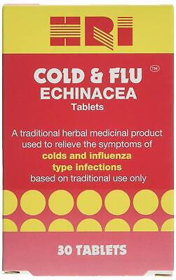 HRI Cold & Flu Echinacea THR - R - Vegetarian tablets (For relief of Colds & ...