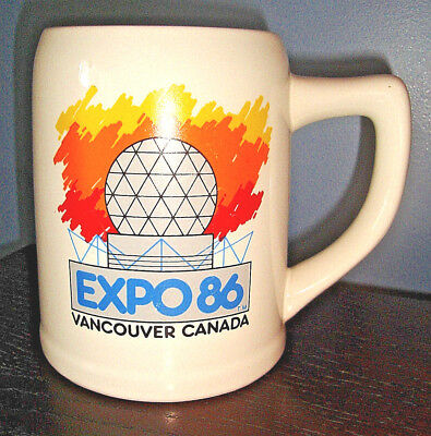 Large Vintage 1986 EXPO 86 Vancouver, Canada Unused CERAMIC COFFEE MUG CUP
