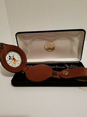 Mickey Mouse Pocket Watch Disney MINT Never Used