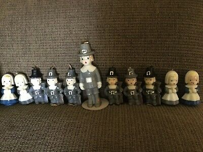Vintage Lot Of 11 Gurley Thanksgiving Candles - Unlit