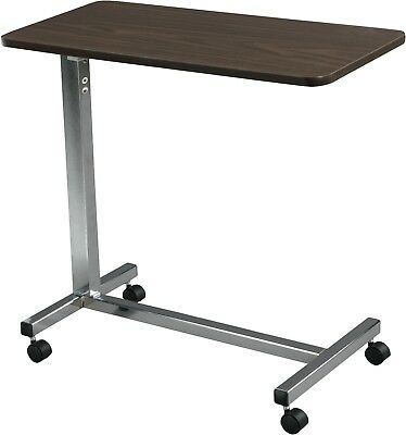 Overbed Rolling Table Top Over Bed Laptop Tray Adjustable Hospital !  T13