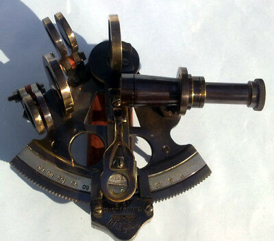 """Collectible Antique Reproduction Brass Nautical Sextant Marine Decor Sextant 3"""""""