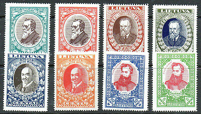 LITHUANIA 1933 NEWSPAPER SET PERFED (8) Sc 272-277B  NEVER HINGED - UNMOUNTED
