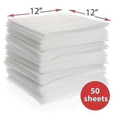 50 Pk Cushion Foam Sheets 12x12 Moving Packing Supplies Fragile Dishes Glass