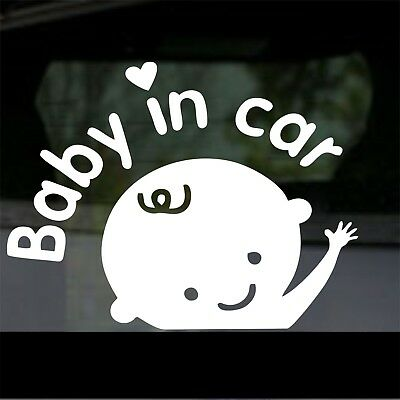 Baby In Car Safety sticker - Child Car Window Decal Stickers Quality New